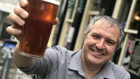 Philip Cutter the landlord at The Murdrers & Gardeners Arms in Norwich pictured in 2019. Picture: Ne