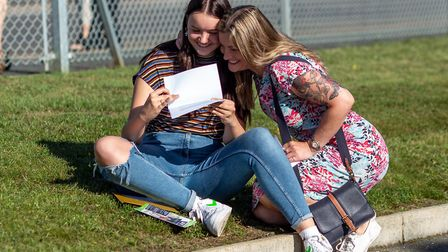 GCSE students at Cromer Academy picking up their results. Picture: Sophie Cass for Inspiration Trust