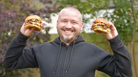 Tom Shiers celebrates the success of Fupburger during lockdown, which has been selling out at Norwic
