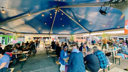 Junkyard Market is a new street food event that is running outside St Mary's Works in Norwich Pictur