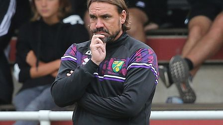 Daniel Farke takes his Norwich City side to Huddersfield Town for the Championship kick-off Picture