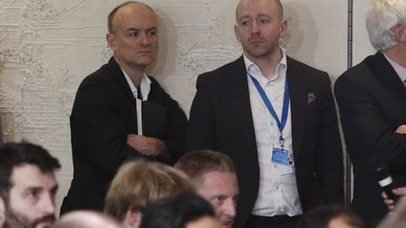 Downing Street former special advisor Dominic Cummings (left) and Director of Communications Lee Cai