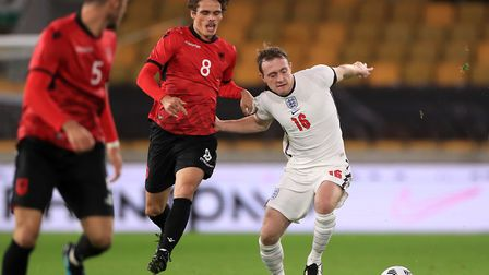 Norwich City midfielder Oliver Skipp in action for the England U21s against Albania at Molineux on T