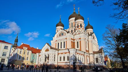 Alexander Newski Cathedral in the old town of Tallinn, Estonia. 'linn' translates at 'town'. Picture