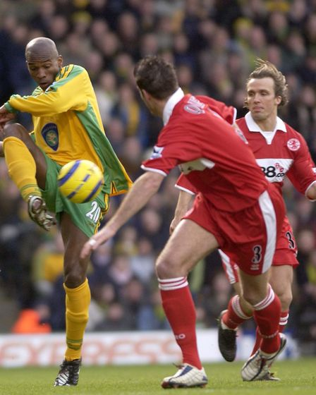 Damien Francis in action Picture: Archant