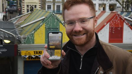 Josh Worley who has set up the norwichmarket.net website, a click-and-collect and delivery service f
