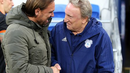 Norwich City boss Daniel Farke will try to get the better of Neil Warnock in a Championship tussle a