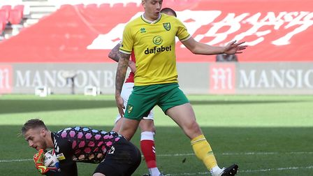 Jordan Hugill returns to Norwich City's starting line-up against former club Middlesbrough Picture: