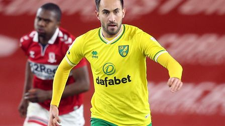 Lukas Rupp returned to Norwich City's starting line-up at Middlesbrough Picture: Paul Chesterton/Fo