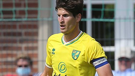 Timm Klose in pre-season action for Norwich prior to his Basel loan switch Picture: Paul Chesterton