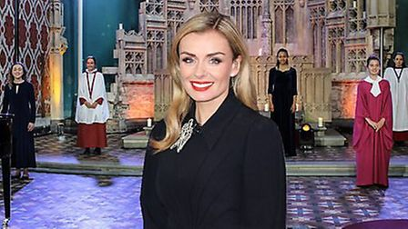 Katherine Jenkins hosts the girls' semi-final of the BBC Young Chorister of the Year competition. Ph
