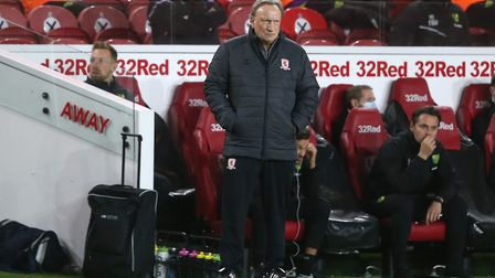 Middlesbrough boss Neil Warnock was not happy after his side's defeat to Norwich City. Picture: Paul