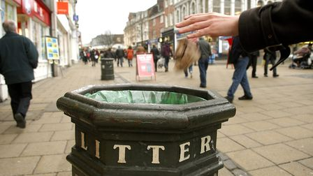 A South Lopham resident who drove six miles to dump household waste in a public bin in East Harling