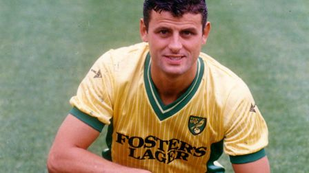 Wayne Biggins, during his time at Norwich City in the mid-1980s Picture: Archant