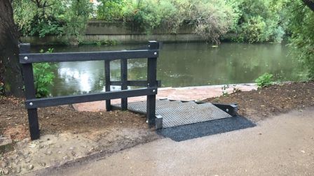 New canoe and paddle board facilities installed at New Mills in Norwich.