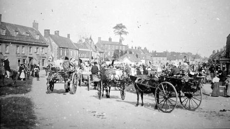 Horses and carriages in Burnham Market