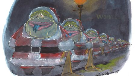 The ghosts of Brexmases yet to come. Picture: Martin Rowson