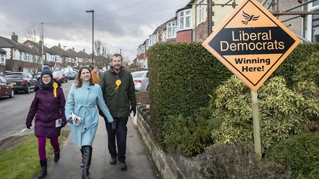 Liberal Democrat Leader Jo Swinson meets supporters on Small Business Saturday during her visit to St Albans. Photograph...