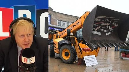 Boris Johnson has gone back on his claim that he would lie down in front of bulldozers to stop the c