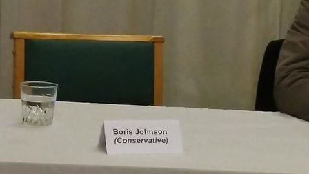 The prime minister was empty chaired at a hustings in his own constituency after he 'couldn't be bot
