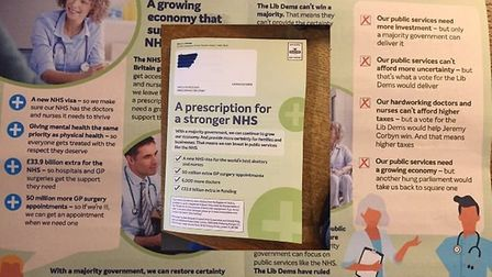 The Tories produced a leaflet stlyed as an NHS prescription which has been branded 'deeply dishonest