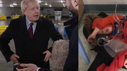 Boris Johnson was so keen to avoid looking at a photo of four-year-old Jack Williment, he accidental