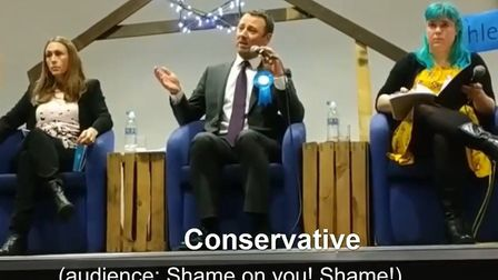 A Conservative candidate has come under fire after suggesting the increase in food bank usage over t
