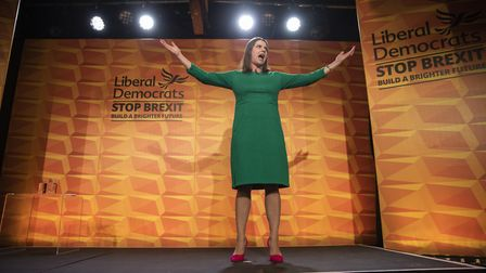 Liberal Democrats leader Jo Swinson at her party conference. Picture: Dan Kitwood/Getty Images