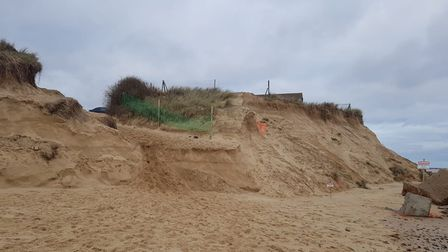 The beach and dunes at Winterton have been hit hard by the recent spring tides