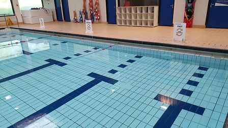 The pool at Torbay Leisure Centre