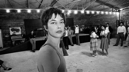"English actress Jane Birkin is pictured on the set of the movie ""Je t'aime moi non plus"" directed by"