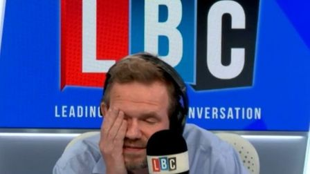 LBC presenter James O'Brien spoke with a caller who was 'ashamed' of being British because of Boris Johnson's Brexit bill;