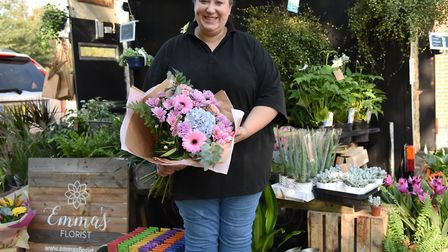 The new Emma's Florist horsebox will visit towns and villages across Suffolk. Pictured is owner Emma Felgate. Picture...