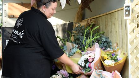 Emma's Florist has now gone truly mobile with the introduction of the new horsebox. Pictured is owner Emma Felgate.