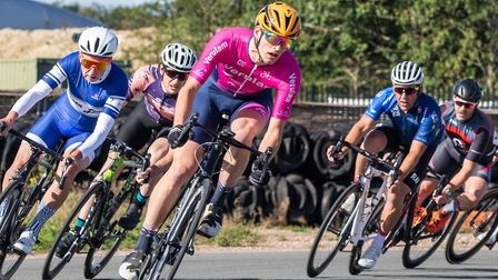 Ryan Allen in action for Verulam Reallymoving at the Bovingdon Bomber cycle series. Picture: JUDITH PARRY PHOTOGRAPHY