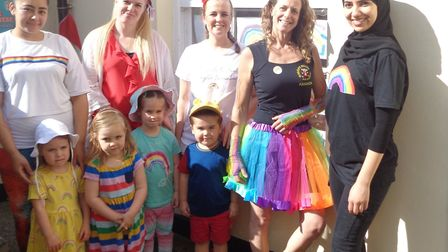 Monkey Puzzle Day Nursery in St Albans held a Rainbow Day to thank NHS and key workers.