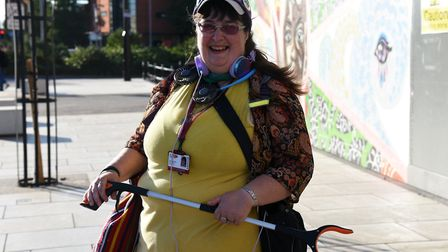 Ruth Longhurst's litter picking routeincludes Ipswich Waterfront. Picture: CHARLOTTE BOND