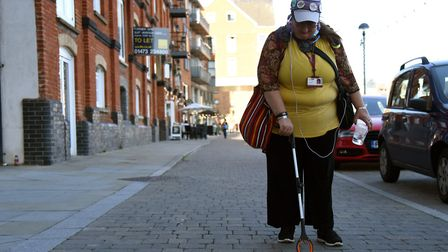 Ruth Longhurst commutes from ger home in Chantry to UK Power Networks in Ipswich. Picture: CHARLOTTE