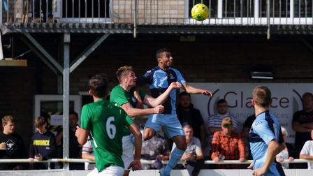 Leon Lobjoit scored twice for St Neots at Soham. Picture: DAVID RICHARDSON/RICH IN VIDEO