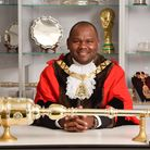 Cllr Ernest Ezeajughi re-elected as mayor of Brent for a second term. Picture: Justin Thomas