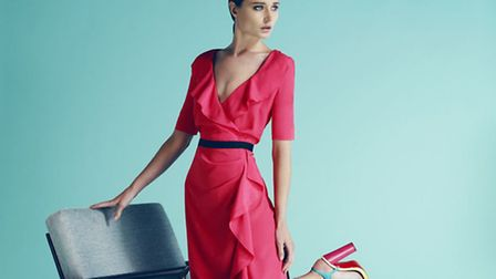 Ideal for a summer occasion, a floaty Havren wrap dress in a vibrant colour, available from Banjo, Victoria Square, Ashbourne