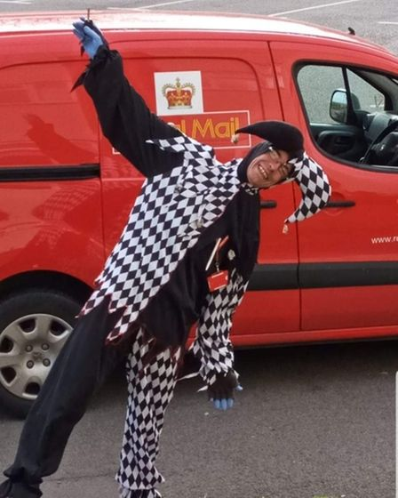 Postie Terry Barnes as a Jester