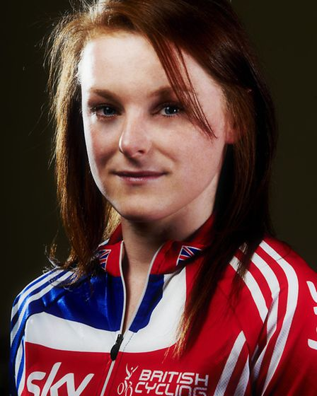 Red, white and blue... Annie in British Cycling Squad kit