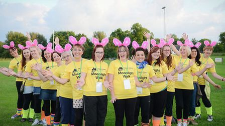 Belper Musical Theatre complete with T-shirts and flashing ears