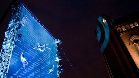 'As the World Tipped' by Wired Aerial Theatre Photo: Mark McNulty