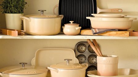 Denbys brand new Barley cast iron oven-to-tableware collection is available from October at the Home Store, Denby Pottery...