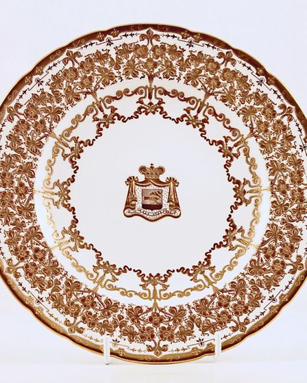 Royal Crown Derby gold plate