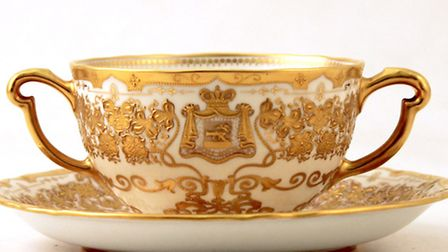 Royal Crown Derby gold cup and saucer