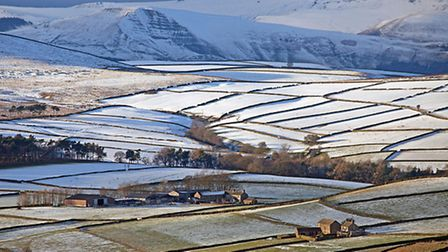 View from Eyam Moor towards Mam Tor  the shivering mountain Photo: Robert Falconer