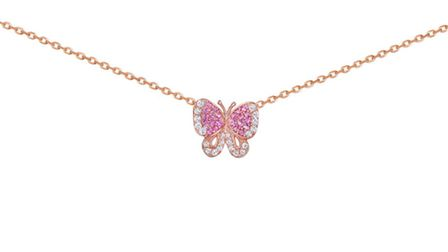 Butterfly Wild Rose pendant (£95)